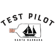 This is the restaurant logo for Test Pilot