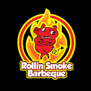 This is the restaurant logo for Rollin Smoke BBQ: Highland