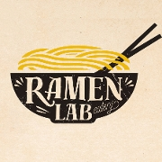 This is the restaurant logo for Ramen Lab Eatery
