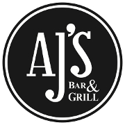 This is the restaurant logo for AJ's Bar & Grill