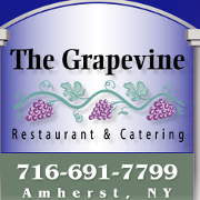 This is the restaurant logo for The Grapevine Restaurant