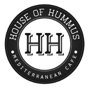 This is the restaurant logo for House of Hummus Mediterranean Cafe
