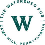 This is the restaurant logo for The Watershed Pub