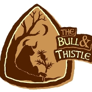 This is the restaurant logo for The Bull & Thistle Pub