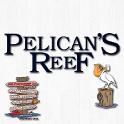 This is the restaurant logo for The Pelican's Reef