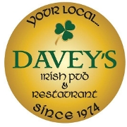 This is the restaurant logo for Davey's Irish Pub & Restaurant