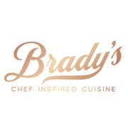 This is the restaurant logo for Brady's Leominster Restaurant