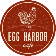 This is the restaurant logo for Egg Harbor Cafe