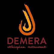 This is the restaurant logo for Demera Ethiopian Restaurant