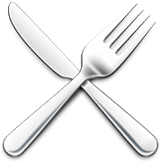 This is the restaurant logo for Chopping Block Steakhouse