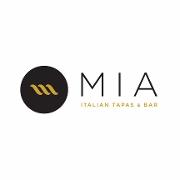 This is the restaurant logo for Mia Italian Tapas & Bar