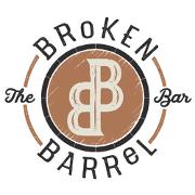 This is the restaurant logo for Broken Barrel Bar