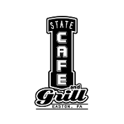 This is the restaurant logo for The State Cafe and Grill