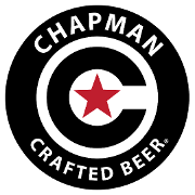 This is the restaurant logo for Chapman Crafted Beer - Orange