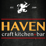 This is the restaurant logo for Haven Craft Kitchen+Bar