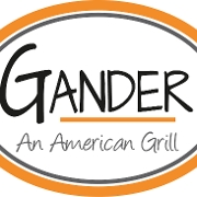 This is the restaurant logo for Gander American Grill