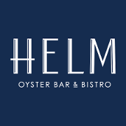 This is the restaurant logo for Helm Oyster Bar & Bistro