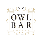 This is the restaurant logo for The Owl Bar