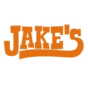 This is the restaurant logo for Jake's Barbecue