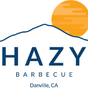 This is the restaurant logo for Hazy Barbecue