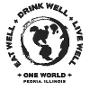 Restaurant logo for ONE WORLD