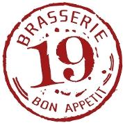 This is the restaurant logo for Brasserie 19