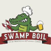 This is the restaurant logo for Swamp Boil