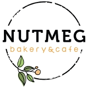 This is the restaurant logo for Nutmeg Bakery & Cafe