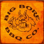 This is the restaurant logo for Big Bore Barbecue Company