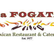 This is the restaurant logo for La Fogata Mexican Restaurant & Catering