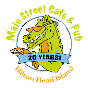 This is the restaurant logo for Main Street Cafe & Pub