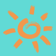 This is the restaurant logo for Sun Dawg Cafe