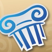 This is the restaurant logo for Greek City Cafe