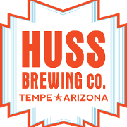 This is the restaurant logo for Huss Brewing Company