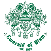 This is the restaurant logo for The Emerald of Siam Thai Restaurant and Lounge