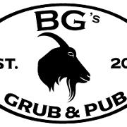 This is the restaurant logo for BG's Grub & Pub
