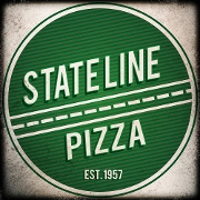 This is the restaurant logo for State Line Pizza