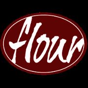 This is the restaurant logo for Flour Restaurant