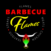 This is the restaurant logo for Flames Barbecue
