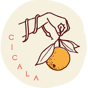 This is the restaurant logo for Cicala at the Divine Lorraine