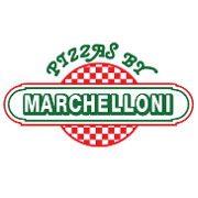 This is the restaurant logo for Pizzas By Marchelloni