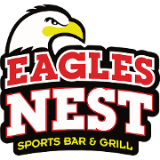 This is the restaurant logo for Eagles Nest Sports Bar and Grill