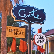 This is the restaurant logo for Cenote