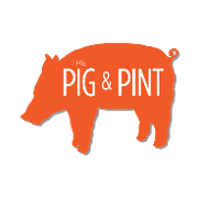 This is the restaurant logo for The Pig & Pint