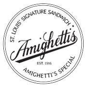 This is the restaurant logo for Amighetti's