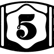 This is the restaurant logo for The 5 Barrel