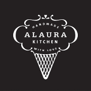 This is the restaurant logo for Alaura Kitchen
