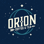 This is the restaurant logo for Orion Coffee And Tea