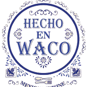 This is the restaurant logo for Hecho en Waco