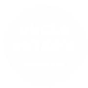 This is the restaurant logo for Uncle Peters Bar & Grill
